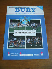 Bury v Rotherham United FA Cup 21-11-1989