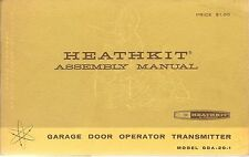 HEATHKIT GDA-20-1 ASSEMBLY MANUAL GARAGE DOOR OPERATOR TRANSMITTER