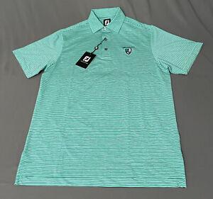 Foot Joy Golf Shirt Polo (S, Green, Black Striped)(NWT) MSRP $85