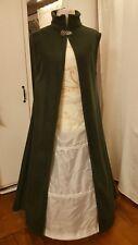 Mantel Mittelalter Gothic Larp Gr. 46 48 50 XXL Damen Umhang Cape grün M18