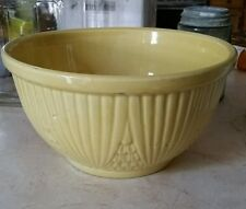 "Robinson Ransbottom Pottery 1503 Yellow 9"" Mixing Bowl RRP Co. Roseville Ohio"