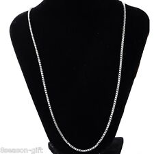 5PCs  Stainless Steel Silver Tone 2mm Box Chain Necklace 51cm
