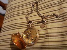 elgin pocket watch 1891 18s 11 jewels hunters case gilded gold