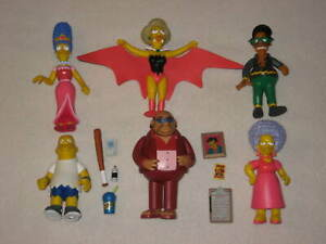 Playmates Toys Simpsons World of Springfield WOS Action Figure Lot of 6