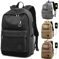 Men Anti-theft Laptop Notebook Backpack with USB Charging Port Travel School Bag