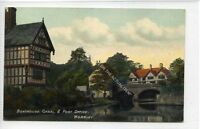 (Ga8337-477) Boathouse, canal & Post Office, Worsley, Salford c1910 VG