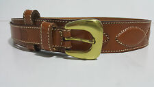 Christian Dior vintage brown leather belt -made in Spain - small