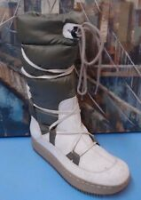 WINTER White INSULATED Snow BOOTS Size 9 M