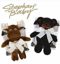 Baby Blanket Comforter Throw & Plush Toy Teddy - Bear/Moose - 2 PIECE GIFT SET!