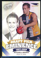 2013 Select Prime Draft Pick Eminence West Coast Eagles Mitchell Brown card DP95
