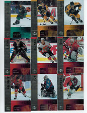 2001-02 UPPER DECK ICE HOCKEY 42-CARD BASE SET LOADED W/STARS