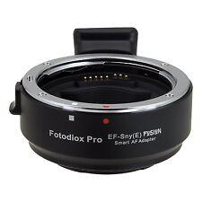 Fotodiox EF-Sny () Lente Af inteligente Fusion E Adaptador de Montaje Canon EOS EF EF-S Lente..
