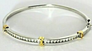 9ct 9K 375 Gold Diamond Bracelet Three Kisses - Very High Quality