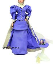 Barbie Moda Victoriano Período Ensemble Lavanda vestido de ninguna muñeca