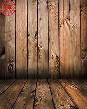 BROWN WOOD WALL FLOOR BABY BACKDROP BACKGROUND VINYL PHOTO PROP 5X7FT 150X220CM