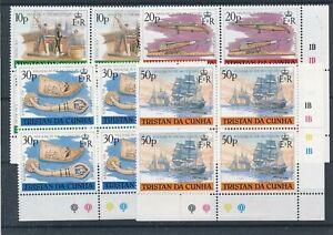 [21832] Tristan Da Cunha Whaling 4x good set very fine MNH stamps