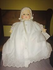 Vintage Madame Alexander Victoria Doll White Christening Dress 20""