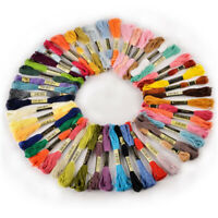 50/100 Multi Colors Cross Stitch Cotton Embroidery Thread Floss Sewing Skeins US