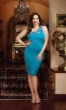 Hot Curvy Body Hugging Cocktail Club Dress Skirt Nightwear Women Plus Size 3X/4X