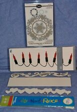 Sizzix / Quickutz Lot of 6: 5 - 12 inch borders / 1 Framelit: GREAT ITEMS