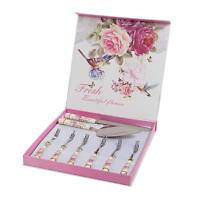 Cake Servers Knife and Cake Forks Pastry Forks Stanless Steel and Fine China