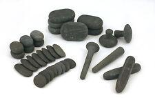 MassageMaster HOT STONE MASSAGE REFLEXOLOGY SET: 34 Basalt Stones
