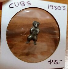 VERY RARE 1950s CHICAGO CUBS BRASS TACK PIN