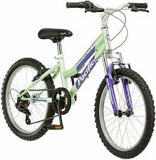 Pacific Evolution 20 Inch Girl's Mountain Bike 6 Speed Steel Frame Cycle Green
