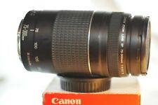 Canon EF 75-300mm f/4-5.6 III lens READ for EOS A2 Rebel T7 T6 90D 80D 5D 6D 7D