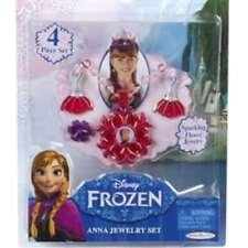Disney Frozen Kinder Anna & Elsa Anna Jewelry Schmuck Set 4 teilig