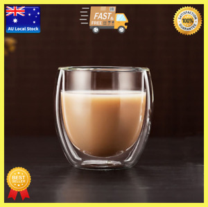 Classic Double Wall Glass Tea Cup Cocktail Cup Bar Cup Coffee Cup Wine Mug 250ml