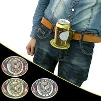 NEW BELT Metal Beer Head Belt party Funny Bottle Buckle belt buckle beer holder