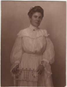 Woman Lace Dress East Wendham MA Effingham Falls NH Vintage Photo Died at 29