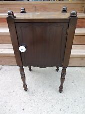 Vintage Wood Wooden Tobacco Humidor Stand Smoking Side End Table