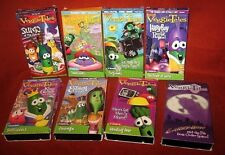 Veggie Tales VHS Movies Esther Larry Boy Blueberry Sumo Forgiveness Fear Lot 8