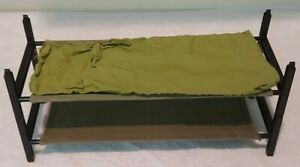Action Man Vintage Bunk Beds And Sleeping Bag Original 1/6th Scale