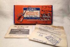 VINTAGE LIONEL LOT #927 MAINTENANCE KIT/ PAPER GUIDE/ ORDER SHEET/ PRE OWNED