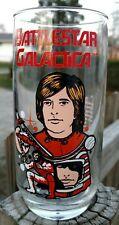 "Battlestar Galactica Starbuck Glass Tumbler 6"" Tall 1979 Universal Studios"