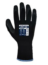 Portwest Insulated Thermal Work Gloves Cold Winter Lined Safety Grip Latex A140