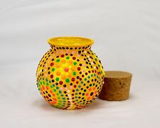 HANDMADE VASE FOR HOME DECOR FAMILY GIFT FOR HER DECORATIVE GARDEN YELLOW CRAFT