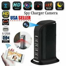 4K WIFI Socket Charger Hidden IP Camera Video Recorder 5 USB Nanny Spy1 Cam DVR