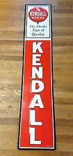 "KENDALL MOTOR OIL DEALER SIGN OF QUALITY HUGE 57"" EMBOSSED METAL ADVERTISE SIGN"