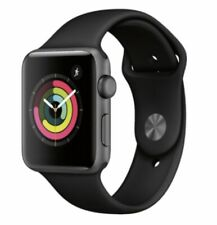 apple watch series 3 38mm (GPS)cellular new Space Grey Aluminum Case Black Band