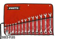 Proto JSCVM-14SA 14 Pc Metric Combination Ratcheting Wrench Set Spline New