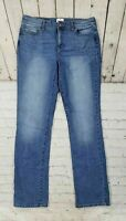 St John's Bay Straight Leg Medium Wash Denim Jeans Women's Size 12L