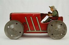 Marx #2 Wind Up Tractor with driver Red Vintage