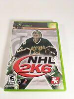 NHL 2K6 Microsoft Xbox Online Enabled Complete CIB
