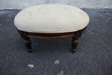 Adorable French Louis XV style Walnut Oval Stool, New Upholstery
