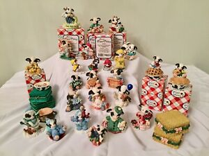 Mary's Moo Moos 1980-1990's ENESCO Collectible COWS CHOOSE ONE ~ Some w/Orig Box