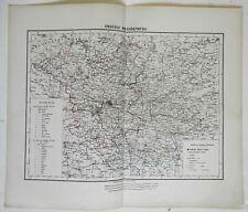 Brandenburg Berlin Potsdam German Empire 1874 Flemming detailed large map